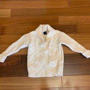 Baby gap toddler girl cream knit sweater. Size 2T
